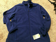 NWT MENS TEK GEAR BLUE FULL ZIP FLEECE JACKET SIZE M MSRP $40