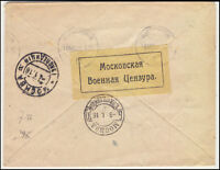 RUSSIA WW1 1916 - Red Cross COVER to DANMARK - War CENSOR Label