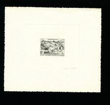 Cameroun 1956 Fauna Cows Farming Scott 326 Signed Sunken Die Artist Proof