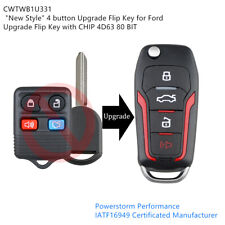 Upgraded Flip Remote Key Fob 315mhz 4d63 Cwtwb1u331 For 2005 2013 Ford Mustang Fits Ford