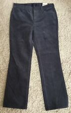 NWT Talbots Petites Gray Corduroy Heritage Fit Straight Jeans Pants Sz 12 Petite