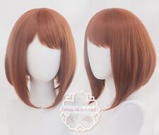 My Boku no Hero Academia Ochako Uraraka Short Cosplay hair wig+track No.