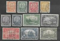 Canadian Stamps - KGV 1928-9 - Sg 275 to 285 - Full Used Set - see photos