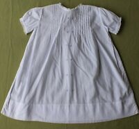 Adorable Vintage Baby / Infant Dress : white, cotton, sheer, embroidered