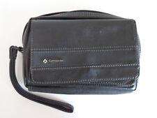 BLACK LEATHER EFFECT SAMSONITE HAND BAG WITH STRAP