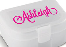 Personalised Lunch Box Name Sticker Custom Tupperware Decal Dishwasher safe