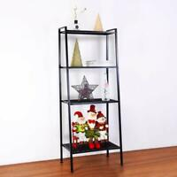 4-Tier Bookcase Bookshelf Leaning Wall Shelf Ladder Storage US free shipping