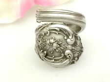 Sterling KING EDWARD Floral Silver Spoon Ring Silverware Jewelry,Custm Size 7-12