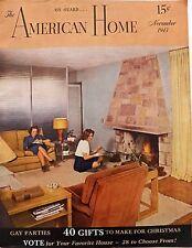 American Home Magazine November 1943 Ads Decor Crafts Parties Cooking Garden