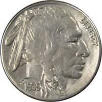 1935 S 5c Indian Head Buffalo Nickel US Coin VF Very Fine