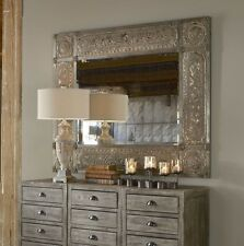 """New Horchow Large 60"""" Champagne Gold French Baroque Wall Buffet Floor Mirror"""