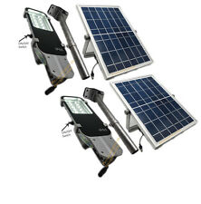 12 SMD LED's Outdoor Solar Post Street Parking Garage Security Pathway Light 2X
