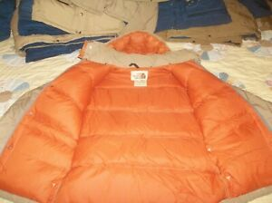 The North Face Sierra Parka w Hood Brown Label Goose Down Jacket Coat USA TNF