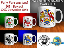 Personalised Family Crest Mug. Over 10,000 Surnames Available!!