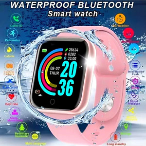 2021 Waterproof Bluetooth Smart Watch Phone Mate For Android Samsung Universal**