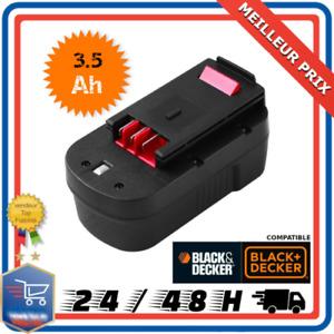 Batterie Pour Black et Decker 18V 3.5Ah Ni-MH A18 A1718 A18NH A18E HPB18 OPE