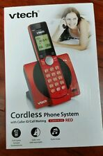 NEW VTECH RED CORDLESS PHONE SYSTEM CS6919-16 BRAND NEW!!!!!!!!!