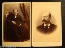 (2) TWO 1882 CABINET PHOTO-OLD WOMAN IN CHAIR & MAN-TOPLIFF STUDIO-GOFFSTOWN,NH