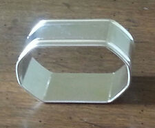 Set of 4 silver plated octagon shaped napkin rings, new, still wrapped