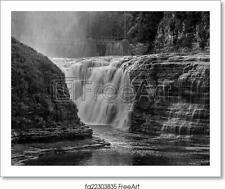 The Upper Falls At Art Print / Canvas Print. Poster, Wall Art, Home Decor - D