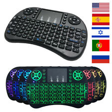 Mini Wireless Keyboard 2.4ghz English Arabic Russian Hebrew Qwerty Touchpad HQ