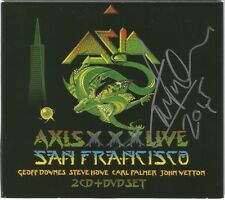 Axis XXX: Live in San Francisco MMXII * by Asia [2 CD/DVD, 2015) Original Signed