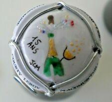 capsule de champagne peinte a la main courty leroy 15 ans les 2 charentes