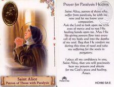 Saint Alice Prayer for Paralysis Healing Laminated Card Sick Illness  HCH80SAE