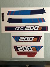 Honda 1985 200s  ATC200S Rear fender decals and warnings  Reproduction Decal Sti
