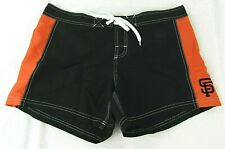 San Francisco Giants Women's Black & Orange Embroidered Board Shorts MLB