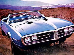1968 PONTIAC FIREBIRD 400 ORIGINAL AD*convertible/decal/hood/door/steering wheel