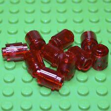LEGO Trans Red Round Brick 1 X 1 Open Stud ( 3062b ) X 10. NEW.