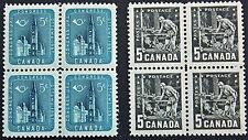 Timbre / Stamp CANADA - Yvert et Tellier n°298 x 4 et 300 x 4 n** (cyn6)