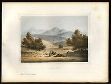 LA MONTAGNE DE HOR  lithographie originale 1855