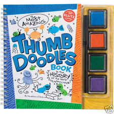 THE MOST AMAZING THUMB DOODLES BOOK KLUTZ ART BOOK & ACTIVITY KIT