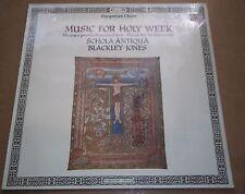 Schola Antiqua/Blackley/Jones MUSIC FOR HOLY WEEK L'Oiseau-Lyre 417 324-1 SEALED