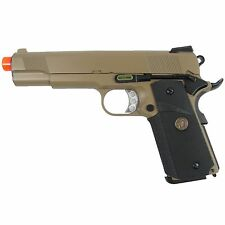 WE Tech GBB-412TW MEU 1911 Full Metal Semi Auto Gas Blowback Pistol Tan/Black
