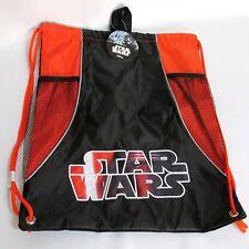Disney Star Wars Black Sling Pack 18 Inch Drawstring Bag Overnight Backpack