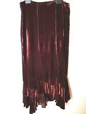 Adini Asymetric ourlet SOIE DEVOREE jupe entièrement doublés avec paillettes biais coupé