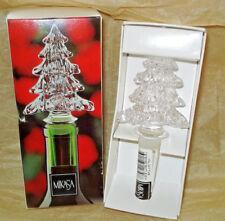 Mikasa Crystal CHRISTMAS TREE Bottle Stopper TOPPER - NIB