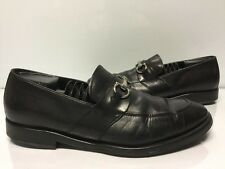 FERRAGAMO Siracusa 2 Moccasin Leather Gancini Bit Loafers Mens Size 9 EE