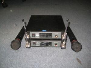2 x Audio Technica ATW-R14 / ATW-T52 Wireless Mic Systems