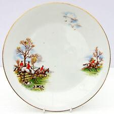Porcelana Vintage Plato de ensalada país Caballo Hound