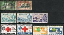 Gibraltar (1937-6) - Small lot of better used stamps (for listing see text) - Vf