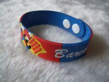 kiTki 215mm Barcelona football soccer soft bangle wristband wristlet bracelet