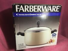 New Vintage 6 Qt Dutch Oven Champagne Farberware Connoisseur Non-Stick Pot Pan