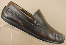 Ecco Brown Leather Classic Moc Toe Driving Loafers Shoes Men's 9 - 9.5 / 43 XW