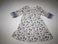 Old Navy Girl's Tie Front Tiered Dress Medium / 8 NWT 3/4 Sleeves Floral M