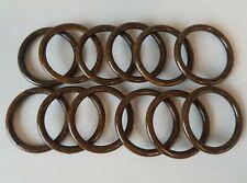 Lot Of 12 Brown Plastic Wood Grain 1 34 Round Macrame Plant Hanger Craft Rings