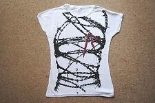 Rihanna barbelés Mesdames skinny T Shirt petites nouvelles officiel nominale loud chanteur